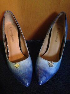 Elsa Inspired Shoes - Ice Queen - Disney Frozen  Women SIZE 7 US Costume Cosplay