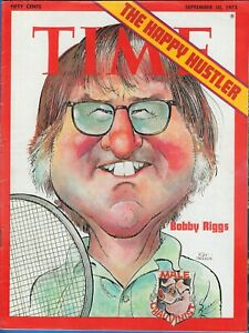 1973 Time Magazine Bobby Riggs Tennis - Billy Jean King - Newsstand - No Label