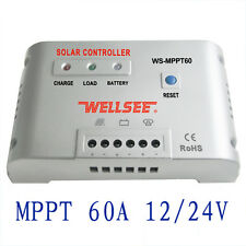 60A 12V 24V Autoswitch MPPT Solar Panel Battery Regulador Charge Controller