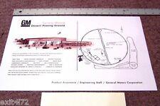 GM Proving Grounds Meza AZ Chevy Pontiac Buick Olds Cadillac Rare Map Vintage
