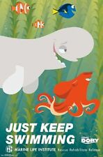 FINDING DORY - JUST KEEP SWIMMING MOVIE POSTER - 22x34 - 14104