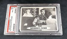 1966 TOPPS SUPERMAN CARD #64 SUPERMAN'S REAL FATHER PSA 8 NQ PUZZLE PIECE BACK