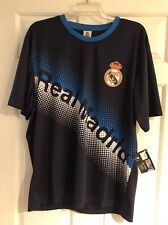 REAL MADRID FC Jersey OFFICIAL LFC PRODUCT LARGE DARK BLUE NWT SOCCER