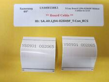 "Samsung 40"" LN40B550K1 T-Con Board LJ94-02849F Ribbon Cables to LCD Screen"