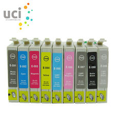 9 Ink Cartridges Replace For Epson Stylus Photo R2400 Pro R2400