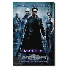 "The Matrix Keanu Reeves 12""x8"" Classic Sci-Fi Movie Silk Poster Cool Gifts Hot"