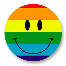 Magnet Aimant Frigo Ø38mm Smiley Peace Face Smile Sourire Souriard Emoticon
