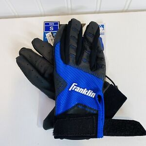 Franklin, Nex-Skinz Youth Batting Gloves Youth Small size Leather Blend, Blue