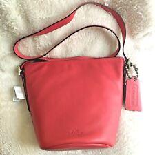 NWT COACH Bleecker Sport Mini Duffel Shoulder Bag Loganberry Pink 32281 Bucket