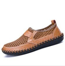 Breathable Mens Hollow Out Slip On Loafers Match Color Driving Moccasins Shoes