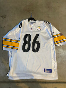 NFL Reebok Authentic Hines Ward Sewn Pittsburgh Steelers White Jersey Size 50
