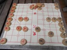 """Chinese Chess Xiangqi 1.6"""" fine carved wooden chess pieces"""