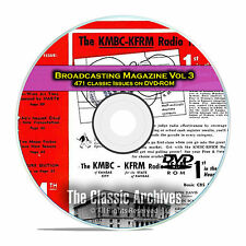 Broadcasting Magazine, Volume 3, 471 Old Time Radio OTR Magazines PDF DVD E60