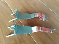Tree Climbing Shoes Stainless Steel Pair of Tree Climbing spikes Climbers tool