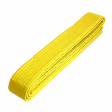 "New Taekwondo Karate Martial Arts 1.5"" Wide Double Wrap Belts, Yellow"