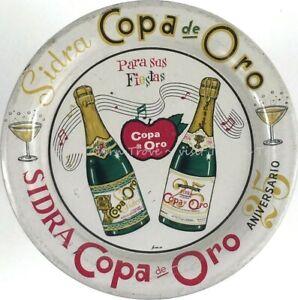 1940s MEXICO Cholula SIDRA COPA DE ORO 4½ inch tip tray Tavern Trove