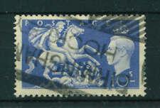 GB 1951 George VI 10/- ultramarine stamp. Used. Sg 511