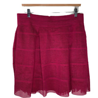 Torrid 0 Womens A Line Skirt Pleats Flare Bottoms Mesh Stretch Size Large 12
