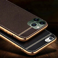 Ultra Thin PU Leather Soft Case Back Cover For iPhone 11 Pro Max 7 X 8 XS Max 6s