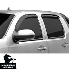 Black Horse Smoke Vent Shade Visors Rain Guards for 09-17 Toyota Venza 14-TYVE