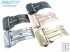 22mm Mes Watch Strap Deployment Stainless Steel Multicolored Solid Buckle