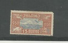 Iceland, Postage Stamp, #C4 Mint Hinged, 1930 Airplane