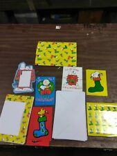 Vintage Snoopy Peanuts Gift-wrapped Stationary collection lot unused NOS 2005