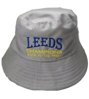 Leeds Champions Back In The Prem Bucket Hat Grey -M/L for Leeds United Fans