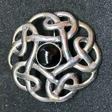 925 Silver Celtic Knot Design 3cm Pin Brooch Stylish Chic Circular 351503