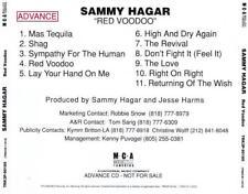 SAMMY HAGAR - Red Voodoo (CD 1998) USA PROMO EXC Advance CD Van Halen