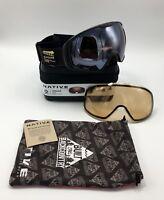 NEW Native Eyewear Upslope™ Snow Goggle Estes Black, Bronze Mirror + Bonus Lens