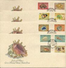 1985 - 8 Cocos Keeling Islands - Shells & Molluscs - Full set of 4 x  FDCs