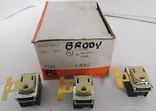 (3) Pass & Seymour 1432 125V 15A Receptacle