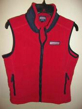 Boys Vineyard Vines Red Fleece Full Zip Fleece Jacket Vest-Size L (16-18)