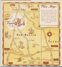 c1948-55 brochure map of Taos, New Mexico