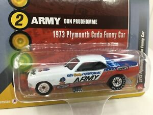 Racing Champs *1973 Plymouth Cuda Funny Car *Don Prudhomme  *NHRA**1/64