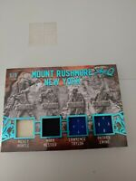 2019 Leaf Ultimate Hockey Mount Rushmore New York #/5 Mantle, Messier, Ewing +