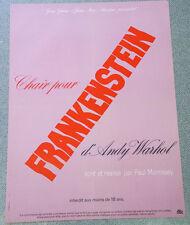 Affiche de cinéma : CHAIR POUR FRANKENSTEIN D'ANDY WARHOL de PAUL MORISSEY