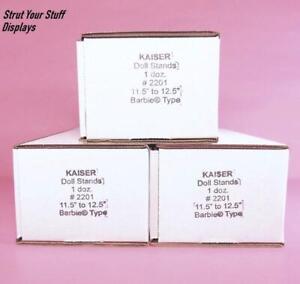 "3 Dozen KAISER #2201 STANDS~WHITE.NEW. Fit 11.5""-12.5"" tall dolls MATTEL BARBIE"