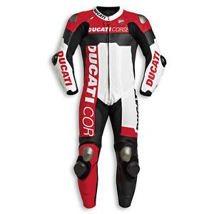 Ducati Biker Leather Combi Race Men Motorbike Leather Suit Leather Biker Jacket Pants