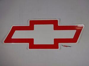 "Genuine Chevrolet Chevy Red Tie Bow Decal GM  IndyCar Nascar 18.5"" W x 7.125"" L"