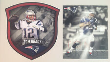 "Tom Brady FATHEAD Official Shield 20""x19"" & Action NFL Mural 18""x15"" Patriots"