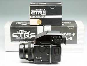 ZENZA BRONICA ETR S+ Zenzanon-MC 50/2,8 + Dorso 120 + Mirino AE II
