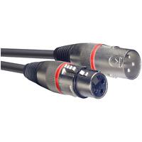 1 Câble XLR 3 Broche Mâle vers XLR 3 Broche Femelle Couleur Rouge Long 6  Métres