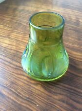 ANTIQUE LOETZ IRIDESCENT PULLED AND PINCHED SMALL GLASS VASE PERFECT CONDITION.