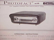 1968 LINCOLN CONTINENTAL SEDAN COUPE 8-TRACK TAPE PLAYER SERVICE SHOP MANUAL 68
