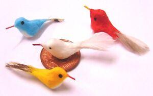 Melody Jane Puppenhaus 3 Wild Vögel Set B Miniatur Garten Voliere Zubehör