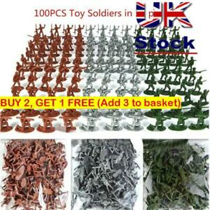 Military Toy Plastic Soldiers Aircraft Tanks Turret Army Men Figures Boy Gift UK