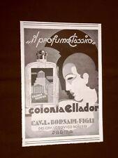 Pubblicità dei 1932 Colonia Ellador Cavaliere Lodovico Borsari & Figli Parma