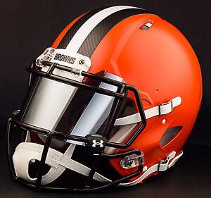 ***CUSTOM*** CLEVELAND BROWNS Full Size NFL Riddell SPEED Football Helmet